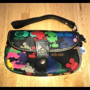 Disney Dooney and Bourke colorful Mickey wristlet